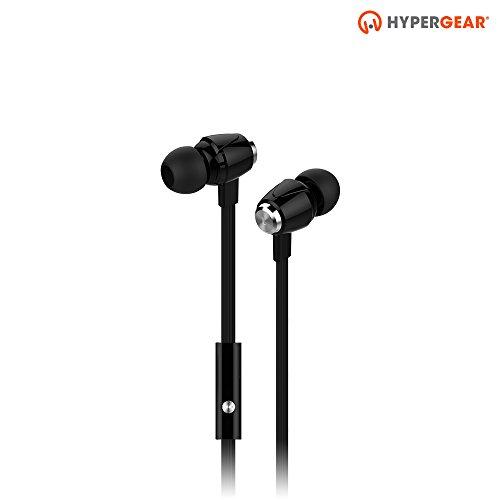 HyperGear dBm Wave In-Ear-Kopfhörer mit integriertem Mikrofon für Anrufe, Geräuschisolierung mit Präzisions-Bass-So&, kompatibel mit iPhones, Android, iPad/Tablets & Anderen Geräten (schwarz)