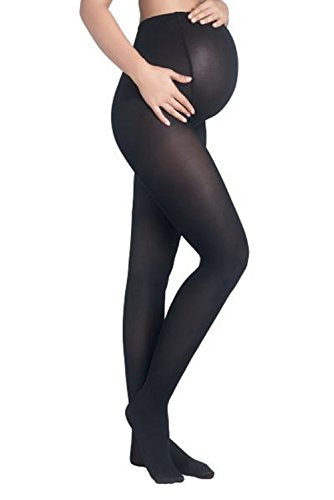 Mothers Essentials 40Denier OPAQUE TIGHTS Women's Maternity Pantyhose (black, S/M-2 pack)