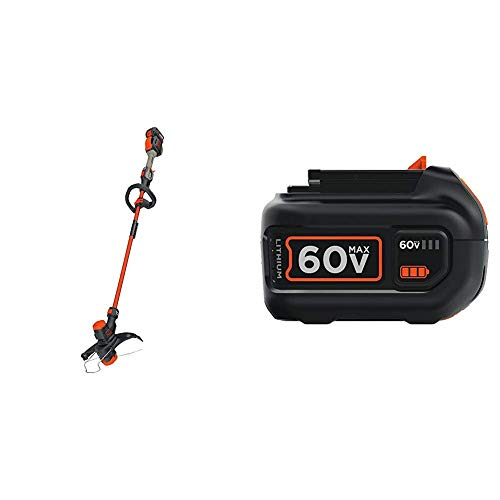 Amazing Deal BLACK+DECKER 60V MAX String Trimmer Kit with Extra Battery, Lithium Ion, 2.5-Ah (LST560...