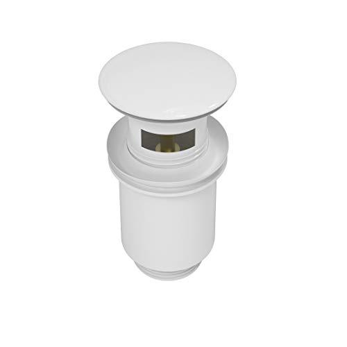 ATCO® Design pop-up ventiel afvoer afvoer afvoer garnituur excenter afvoer wastafel sifon PU29 met overloop wit