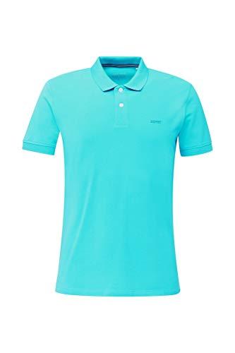 Esprit Herren 020EE2K303 Polohemd, 480/LIGHT Turquoise, XXL