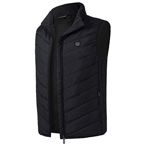 MAIJIXIDE elektrisch verwarmd vest USB-oplaadbaar jack vest voor dames en heren regenjas vest gevoerd voor outdoor golf