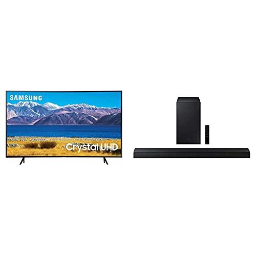 SAMSUNG 65-inch Class Curved UHD TU-8300 Series - 4K UHD HDR Smart TV with Alexa Built-in (2020 Model) & Samsung   HW-A650   3.1ch   Soundbar   w/Dolby 5.1 / DTS Virtual:X   2021
