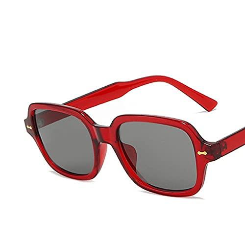 MIMITU Gafas de sol pequeñas ovaladas para mujer y hombre, gafas de sol clásicas de lujo para mujer, hombre, negro, amarillo, gafas de sol UV400, rojo