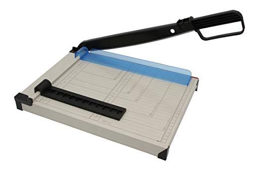 Hebelschneider A4 kompakt, Papierschneider aus Metall, Schneidemaschine für Foto, Pappe und Papier bis 8 Blatt