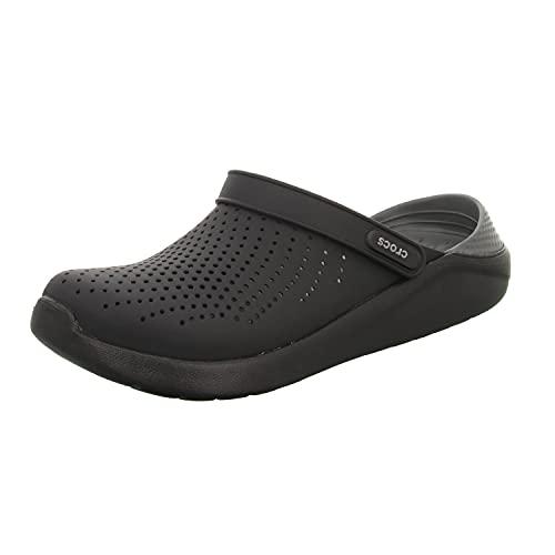 Crocs Men's and Women's LiteRide Clog, black/slate grey, 12 Women / 10 Men