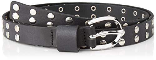 Guess Studded Leather Belt Cintura, Nero, L Donna