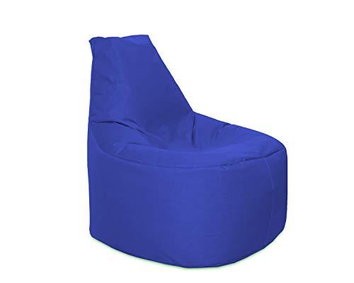 Lacasa Sitzsack XL-XXL Outdoor Indoor- Wasserdicht Wetterfest-Bodenkissen Sitzkissen Beanbag- Erwachsene Kinder- Gaming Sessel- EPS StyroporFüllung- Hochwertiges Oxford 600D (XL - 69 cm Ø, Blau)