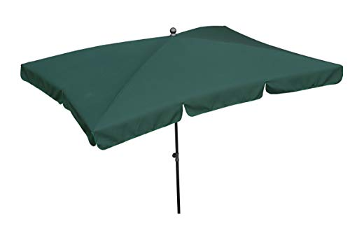 Maffei Art 115r Parasol rectangulaire cm 240x160, Tissu Polyester. Made in Italy. Couleur Vert