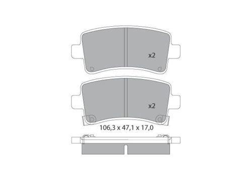 Patins de frein arrière P1581
