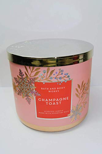 Bath and Body Works Champagne Toast Holiday 2020 3-Wick Scented Candle 14.5 Ounce