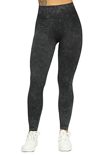 FITTOO Leggings Vaqueros de Imitación Pantalones Deportivos Sin Costura Vaqueros Lavadoso M