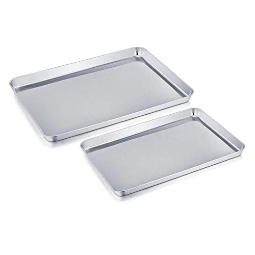 Bakeware Baking Tray Rectangle Oven Baking Form Aluminium Cake Pan S/L Size Non-Stick Biscuit Cookie Macaroon Pastry Tools Bakeware Set (Color : Small)