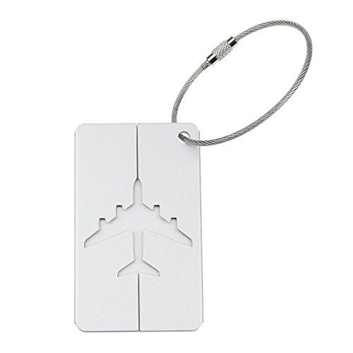 SunniMix Reise Kofferanhänger mit Adressschild Namensschild Alu - Silber