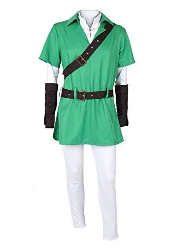 CoolChange Zelda Kostüm von Link | Verkleidung mit Tunika, Leggings & Langarmshirt | Größe: L