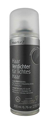 Hairfor2 Haarverdichtungsspray gegen lichtes Haar (200ml, Schwarz)
