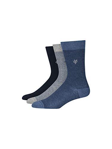 Marc O'Polo Body & Beach Damen W (3-Pack) Socken, Blau (Navy 815), 35/38 (Herstellergröße: 400) (3er Pack)