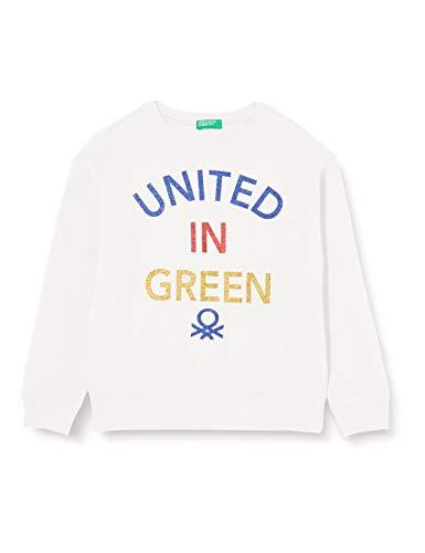 United Colors of Benetton (Z6ERJ) Mädchen Maglia G/C M/L Kapuzenpullover, Snow White 074, L