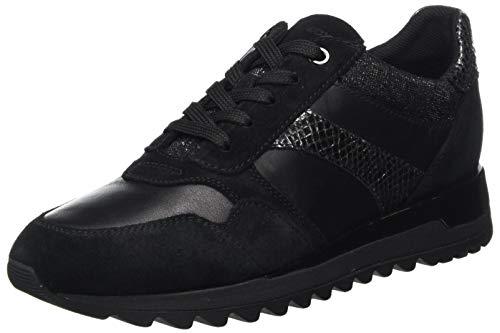 Geox D Tabelya A, Zapatillas Mujer, Negro, 40 EU
