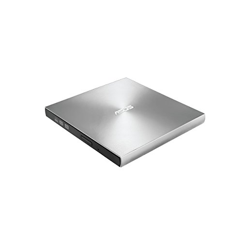 ASUS ZenDrive Silver 13mm External 8X DVD/ Burner Drive +/-RW with M-Disc Support, Compatible with both Mac & Windows and Nero BackItUp for Android devices (USB 2.0 & Type-C cables included)