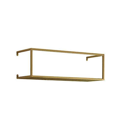 Plantenrek metalen wandplank bloempot houder organizer boekenrek decoratief presentatierek voor woonkamer slaapkamer 50 * 16 * 15CM goud