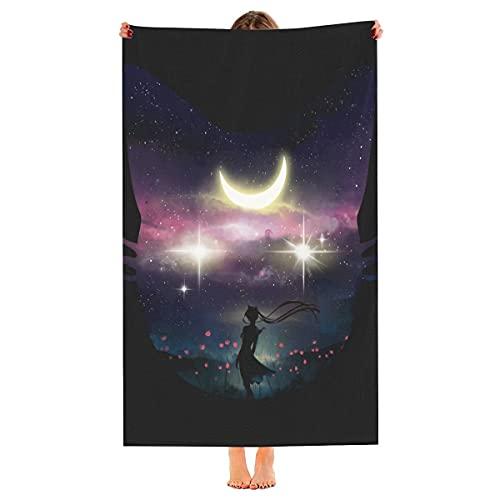 Moon Chaser Toalla de playa de gran tamaño, teñido de microfibra de secado rápido, toalla de piscina de viaje fresco