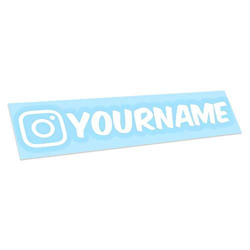 Custom IG Name Vinyl Decal - Personalized Social Media Username Sticker