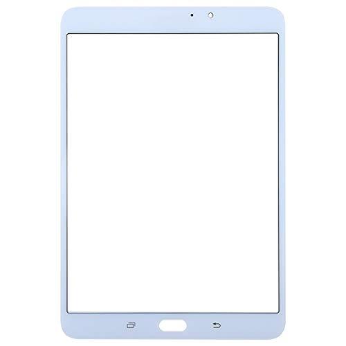 BEIJING  TOUCHDISPLAYREPAIR+ / Pantalla Frontal Lente de Vidrio Exterior para Galaxy Tab S2 8.0 / T713, Reemplazo de Cristal de Pantalla Exterior fronta (Color : Blanco)