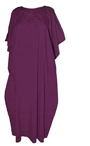 Cool Kaftans Schlichtes Kleid, Damen, violett