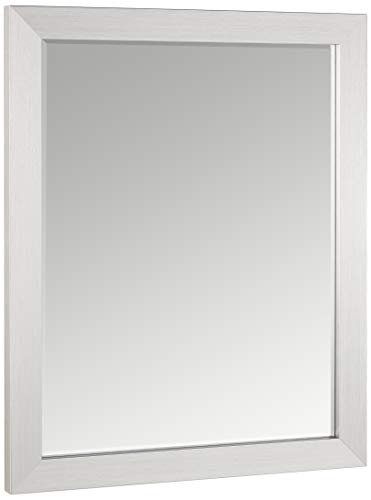 Head West 26 x 32 Modern Brush Nickel Mirror, 26x32 -