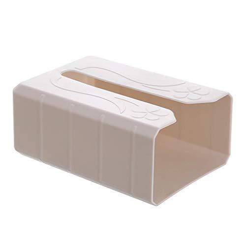 Lulupi Taschentücher Box Papiertuch Spenderbox Selbstklebender Feuchttücherbox, Ohne Bohren,Stabil Taschentuchspender Papierhandtuchhalter Kosmetiktücher Tissue Box
