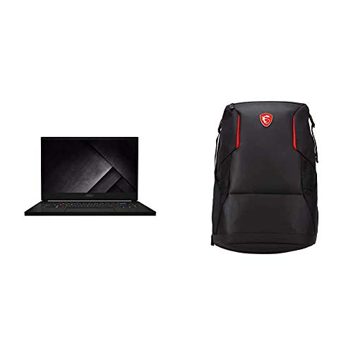 MSI GS66 Stealth 10SE-051ES - Ordenador portátil de 15.6' FHD, Negro , Teclado QWERTY Español + MSI Urban Raider - Mochila Gaming para Ordenador portátil de 17', Negro