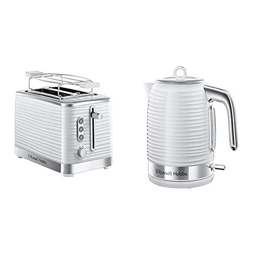 Russell Hobbs Set Petit Déjeuner Bouilloire et Grille-Pain Toaster XL Inspire - 24360-70 et 24370-56