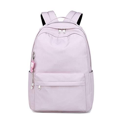 JenLn Mochila para Chicas niños Bookbag Elementary Middle School Womens College (Color : Purple, Size : 30x14x42cm)