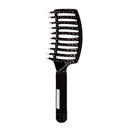 RoxTop Haarbürste Anti-Statik-Friseur Salon Hair Care Teeth Massage Haare kämmen (schwarz)