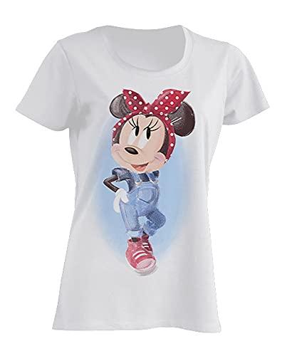 Disney Damen T-Shirt Minnie Mouse Pin-Up (Textilien)