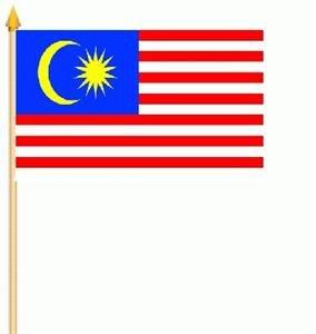 Stockfahne Malaysia Fahne Flagge Grösse 30x45cm - FRIP –Versand®