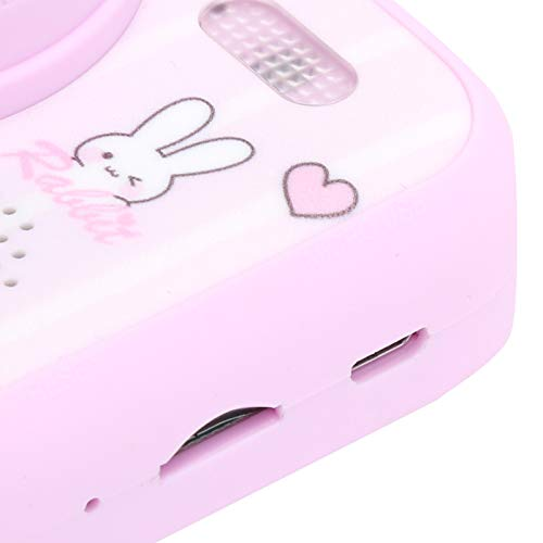 Chanmee Fotocamere per Bambini, Scattare Foto Lettore Mp3 modalità Flash Fotocamera per Bambini, Bambini per Bambine Regali di Compleanno per Bambini(Pink)
