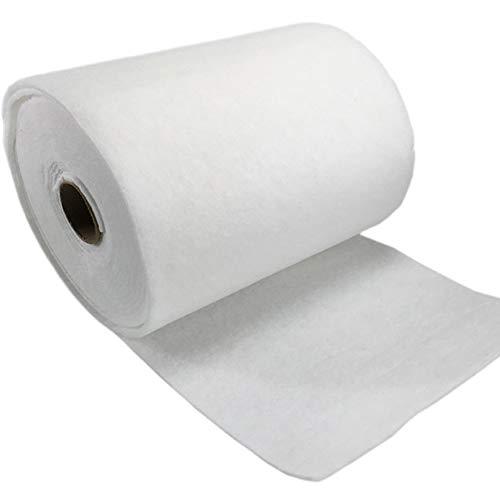 Sorand Filter Baumwolle, 3MM 1 Rolle Weißer Luftfilter Baumwolle Primärfilter Desodorierung, Baumwolle Luftfiltrationsteile 1m x 5m, für Luftreiniger/Filter/Waschmaschinen/Klimaanlagen/Ventilatoren