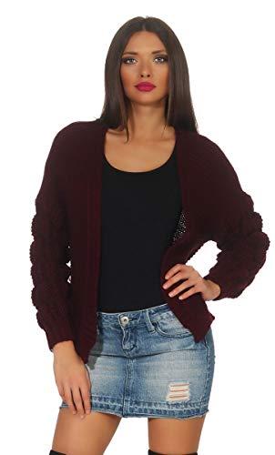 OSAB-Fashion 11362 Dames Grof gebreide jas gebreid vest korte jas zonder sluiting Cardigan