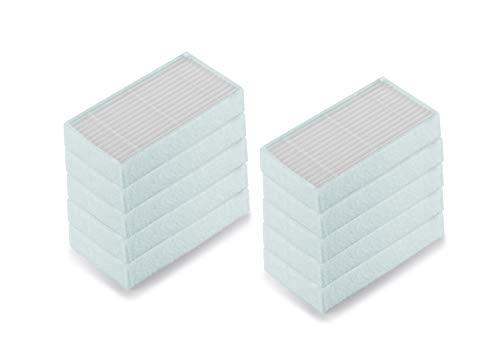 Supremery 10x Ersatzfilter für ILIFE & MEDION Saugroboter MD16192, MD18500, MD18501, MD18600 Hepa Filter Ersatzteile Zubehör