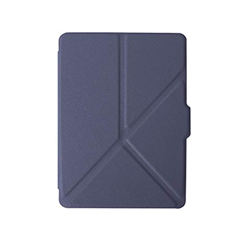 AIYIGEYALI E-Book-Fälle Slim Smart (Auto Wake und Sleep) Origami Hülle Cover for Kindle Voyage (Color : Dark Blue)