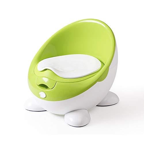Vasino, Sedile da Toilette, Sedia da vasino per Bambini, Staccabile, Facile da Pulire, Design ergonomico Confortevole, Ragazzo e Ragazza,Green