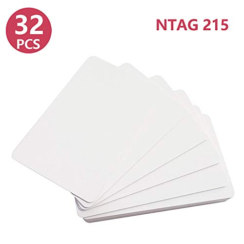 NFC Cards NTAG215 Blank 32 Pack Compatible with TagMo and Amiibo for All NFC-Enabled Smartphones and Devices
