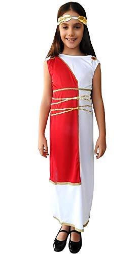 Inception Pro Infinite Disfraz de Antica Romana - Blanco - Disfraz - Niña - 4 - 5 años - Diosa griega - Halloween - Carnaval - Fiestas - Talla S - Idea regalo original