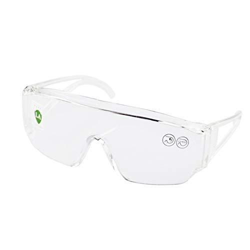 二眼型安全メガネ 保護めがね 軟質PVC鼻パッド 軽量 防衝撃 防塵 風を防ぐ 作業用 自転車で使う 2019改良