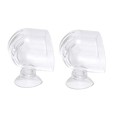 Balacoo 2Pcs Aquarium Acrylic Feeding Cup Transparent Fish Feeder Aquarium Equipment for Fish Shrimp
