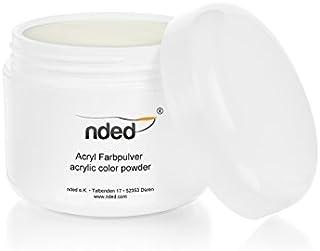 Polvo Acrilico para Uñas de Porcelana de NDED, Blanco, 30 g, endurece al contacto con el aire