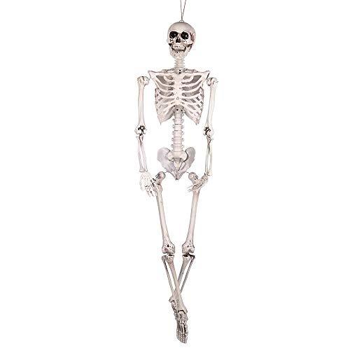 DAMAI STOREl Nuevo Esqueleto Encantada De Halloween Vestido De Escape Adornos Simulación De Alta del Hueso del Cráneo Accesorios Decorativos 165cm (Color : C)