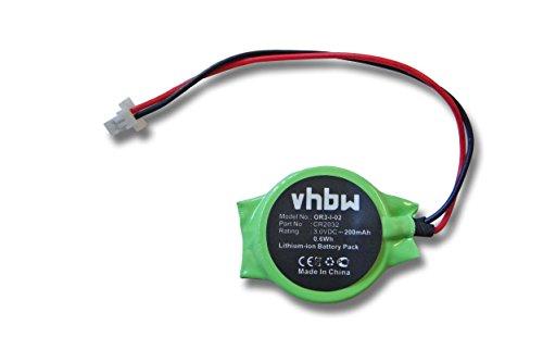vhbw Batterie Bio 200mAh (3V) Notebook, Ordinateur Portable Panasonic Toughbook CF-T5, CF-30, CF-T8, CF-H1, CF-19 comme CR2032.
